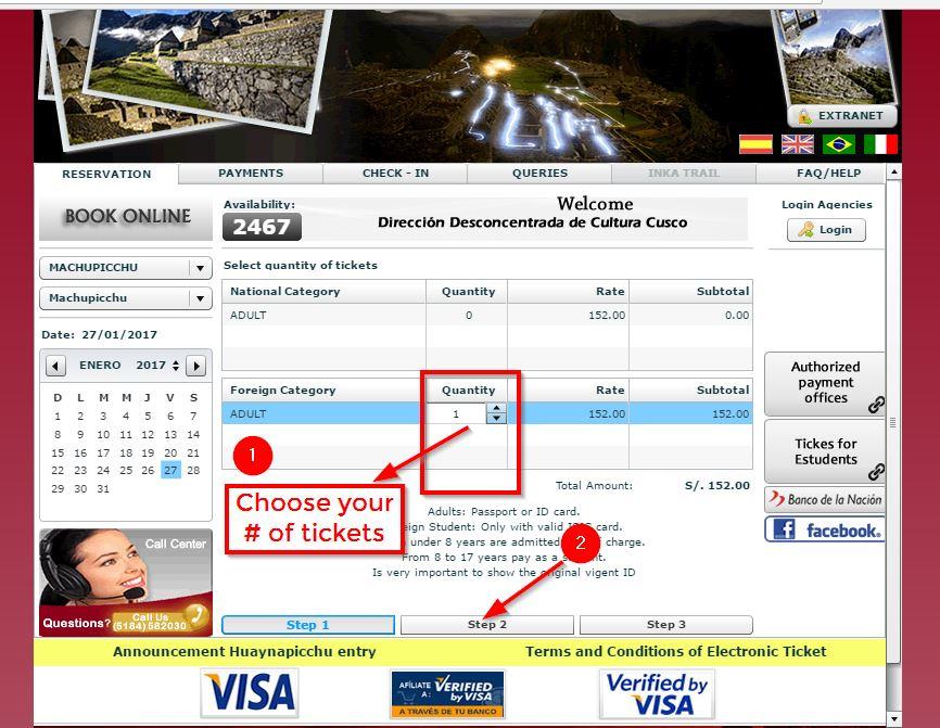 Machu Picchu Ticket -3