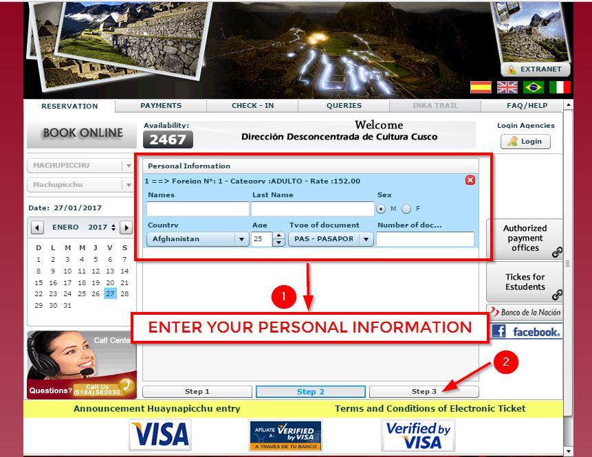 Machu Picchu Ticket -4