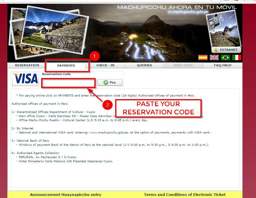 Machu Picchu Ticket -7