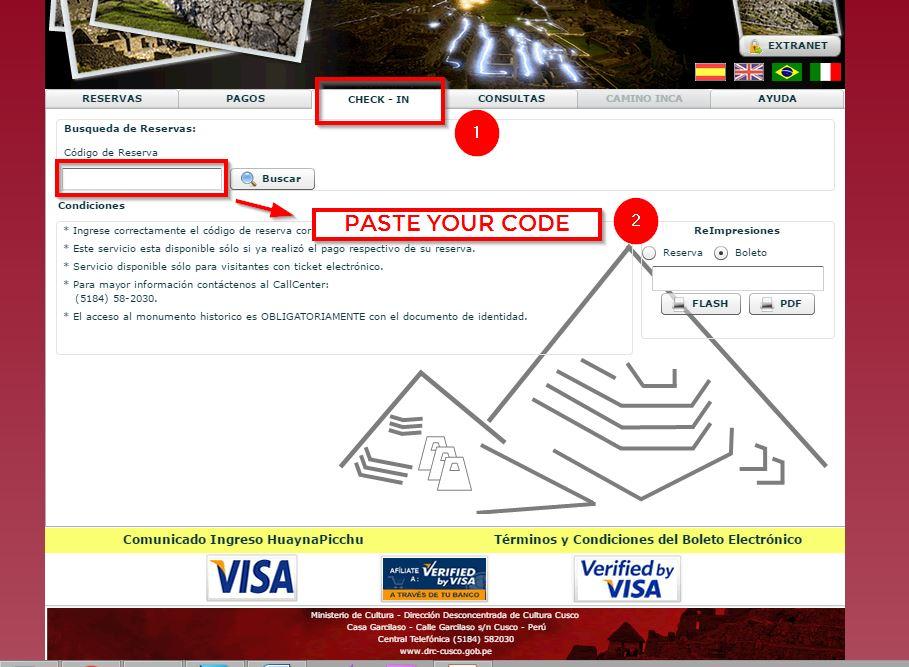 Machu Picchu Ticket -9