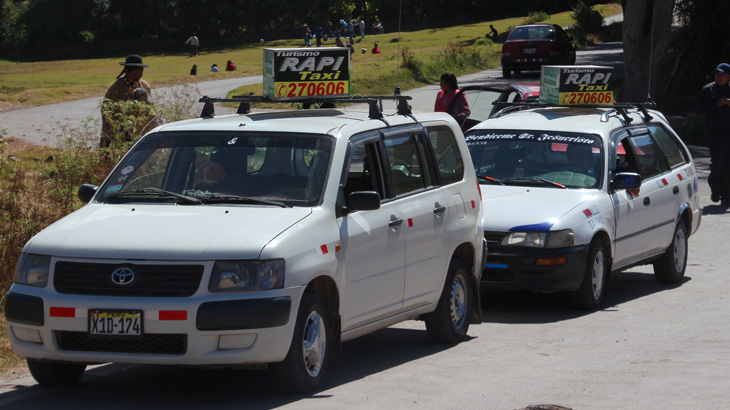 Garanteed Taxis in Cusco city