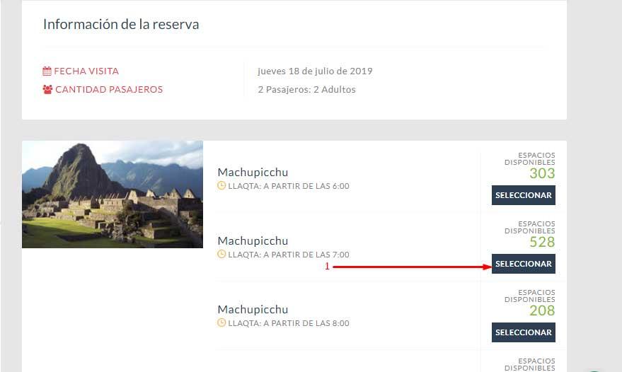 Machu Picchu ticket online