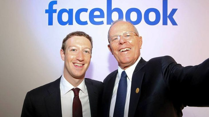Pedro Pablo Kuczynski and Mark Zuckerberg