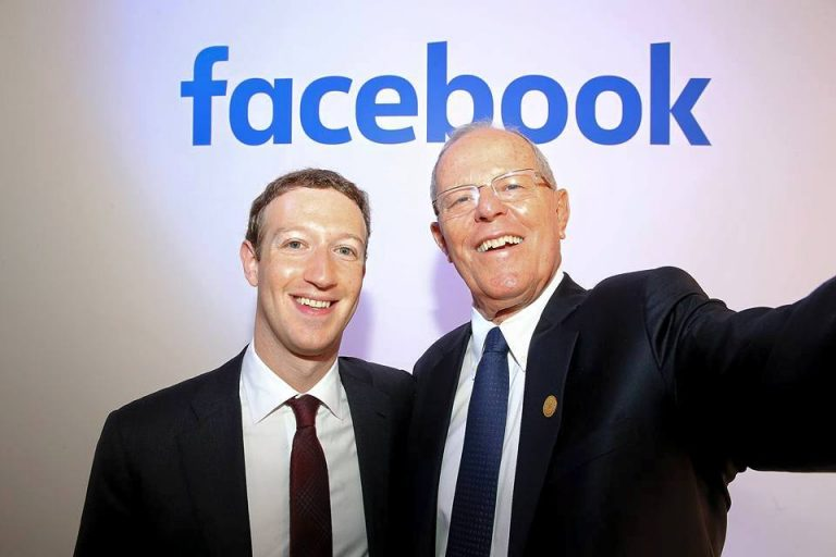 Pedro Pablo Kuczynski and Mark Zuckerberg